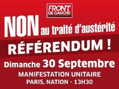 traité budgétaire européen, mobilisation du 30 septembre