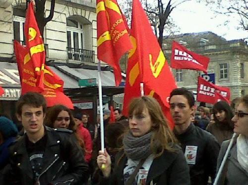 manifestation austérité,paris,front de gauche,pcf,jc,pierre laurent