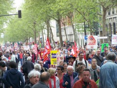 austérité, salaires, front de gauche, VIè république, 5 mai pour une VIè République, manifestation, pierre laurent, jean-luc mélenchon, eva Joly, 5 mai pour une VIè République